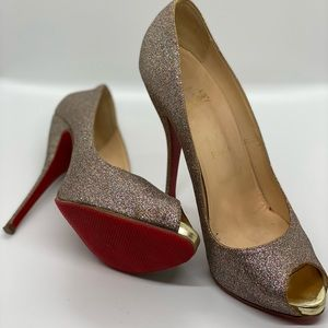 Authentic Glitter Christian Louboutins